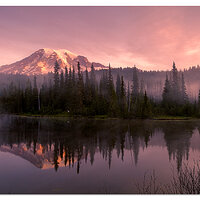 Rainier - Misty Reflections